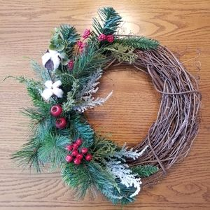 Other - Homemade Farmhouse Old Christmas style wreath